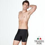 【TRAVELFOX 旅狐】簡約風五分男泳褲加大款C12998-3L