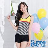 【SUMMERLOVE 夏之戀】海軍風格長版二件式泳衣S15738