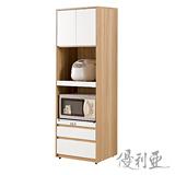 【優利亞-羅尼雙色】2尺高收納櫃