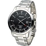 SEIKO 精工 Kinetic 雙時區簡約時尚腕錶 5M85-0AC0D SUN033P1