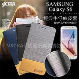 VXTRA 嚴選 三星 Samsung Galaxy S6 G9200 經典牛仔紋拼接側翻皮套