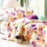 《KOSNEY 彩魅語情》加大100%天絲TENCEL四件式床包被套組台灣精製