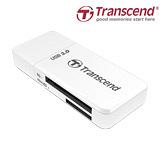 創見RDF5 USB 3.0 二合一迷你讀卡機(白色超值組) - 加送4片裝卡片收納保存盒+萬用保護貼