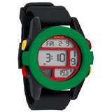 NIXON The UNIT率性概念雙時區運動錶 (綠黑)