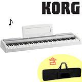 【KORG】標準88鍵電鋼琴/數位鋼琴含琴袋-白色-公司貨保固 (SP-170S-WH)