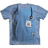 【摩達客】(預購)(大尺碼3XL)美國進口The Mountain 變身護理師 純棉環保短袖T恤