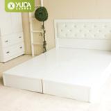 【YUDA】促銷款 純白色 3.5尺單人 床底/床架/非掀床(三分床底) 新竹以北免運