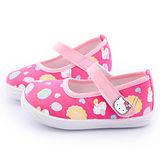 童鞋城堡-Hello Kitty 中小童 甜美繫帶帆布鞋715910-桃