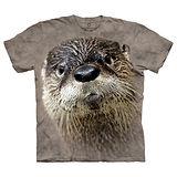 【摩達客】(預購) 美國進口The Mountain Smithsonian系列 北美水獺 純棉環保短袖T恤
