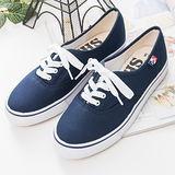 中國強 MIT 百搭潮流功夫鞋H595(藍色)女鞋