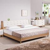 HAPPYHOME 寶格麗床箱型6尺加大雙人床架624-3+624-4不含床頭櫃-床墊