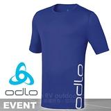 【瑞士 ODLO】男新款 EVENT 套頭衫短袖圓領大LOGO T恤/吸濕排汗衣.運動上衣/抗UV .快速排汗.透氣.輕量化 靛藍 321842