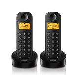 ◆PHILIPS◆飛利浦數位無線子母無線電話機 D1202/D1202B