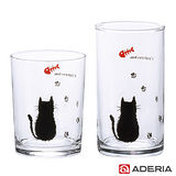 【ADERIA】日本進口貓咪足跡玻璃杯2入組