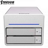 STARDOM 3.5吋/2.5吋USB3.0/FW800/2bay磁碟陣列設備-ST2-WB3