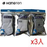 HANG TEN 1/2男女休閒襪 3入裝(22~24cm)*3包組