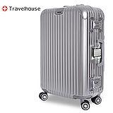 【Travelhouse】爵世風華 29吋PC鋁框鏡面行李箱(銀色)