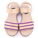 美國LIVIE & LUCA 中童 真皮手工威爾斯涼鞋Z022-1-紫