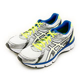 男 ASICS亞瑟士 專業慢跑鞋 GEL-OBERON 9 白藍黃 T541N-0100