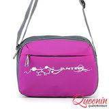 DF Bagschool - 輕質量戶外休閒側背包-紫色