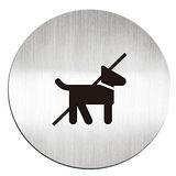 【迪多 deflect-o】610710C 鋁質圓形貼牌/指示標語『禁止攜帶寵物』