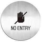 【迪多 deflect-o】613710C 鋁質圓形貼牌/指示標語/禁止進入 (英文)『NO ENTRY』