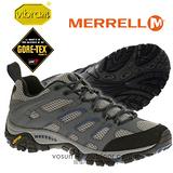 【美國 MERRELL】男新款 Moab GORE-TEX XCR 專業防水透氣中筒登山健行鞋 灰/藍 ML65269