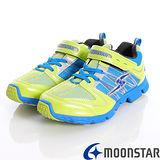 日本月星頂級競速童鞋-黃金動能爆發競速紀念款-SSJ5649黃藍(20cm-24.5cm)