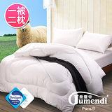 【法國Jumendi】台灣精製高密度防蹣抗菌潔淨羊毛被-雙人(含2枕)