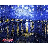 【ArtLife】創意油畫、數字油畫DIY (梵谷 星空下的羅納河)