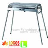 【日本 LOGOS】Smart80不鏽鋼BBQ烤爐(L/附烤盤)/烤肉架.贈鋁箔炭盆 81065510