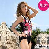 【Heatwave熱浪】勁麗魅力 加大萊克連身裙泳裝-81685