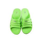 母子鱷魚 輕量氣墊拖男款BN5127-螢光綠色(25~28cm)