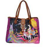 AIGNER City Bag系列 圖繪限定版手提包-M 紫茉莉