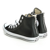 CONVERSE(男/女) 柔軟皮革面料帆布鞋(高統)-黑-147959C