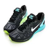 NIKE(男)Lunarglide 6 輕質透氣網布籃球鞋-黑-654433014