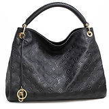 Louis Vuitton LV M41066 ARTSY MM 經典花紋皮革壓紋單柄肩背包.黑 預購