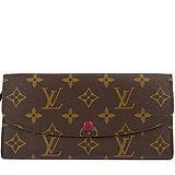 Louis Vuitton M60697 EMILIE新款扣式拉鍊零錢長夾.紅 預購