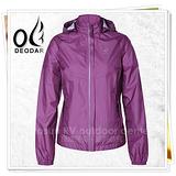 【DEODAR】 HELN-TEX 3M反光防水透氣外套(帽可拆 防曬 抗UV50+) /紫紅 12200167-79