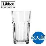 【美國 Libbey】杜瑞塔夫強化堅耐型 水杯 207ml*6入 (L-15239)
