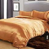 RODERLY- 蜂蜜金 絲緞 雙人四件式被套床包組