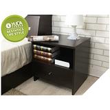 【YUDA】日式簡約 浮雕木紋 空間收納 床頭櫃/床邊櫃/小矮櫃 (需DIY組裝)