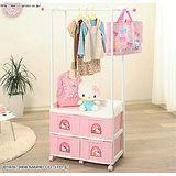 日本製*日本知名品牌 IRIS Hello Kitty 兒童小衣櫥 收納櫃+衣架