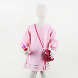 岱妮蠶絲 - (DZ7422L)女童氣質絹紡蠶絲洋裝(粉紅/80cm~140cm)