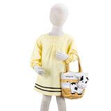 岱妮蠶絲 - (DZ7422P)女童氣質絹紡蠶絲洋裝(鵝黃/80cm~140cm)