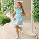 美國 Mud Pie 時尚嬰幼童洋裝 脖子圈圈天空藍