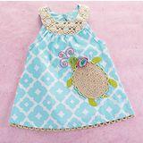 美國 Mud Pie 時尚嬰幼童洋裝 可愛烏龜天空藍