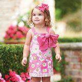 美國 Mud Pie 時尚嬰幼童洋裝 粉白花朵