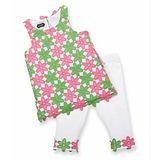 美國 Mud Pie 時尚嬰幼童洋裝 粉綠小雛菊