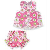美國 Mud Pie 時尚嬰幼兒洋裝與屁屁褲 粉白花朵